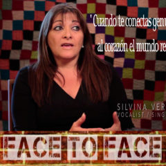 face to face with Singer Silvina Vergara